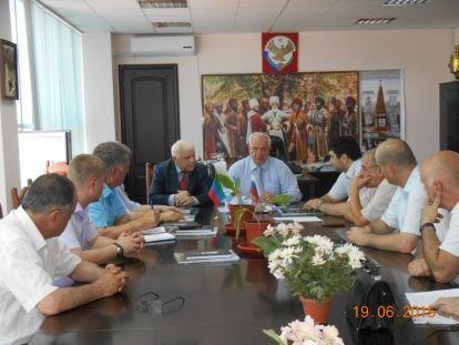 Визит Президента ОАНБ в Дагестан